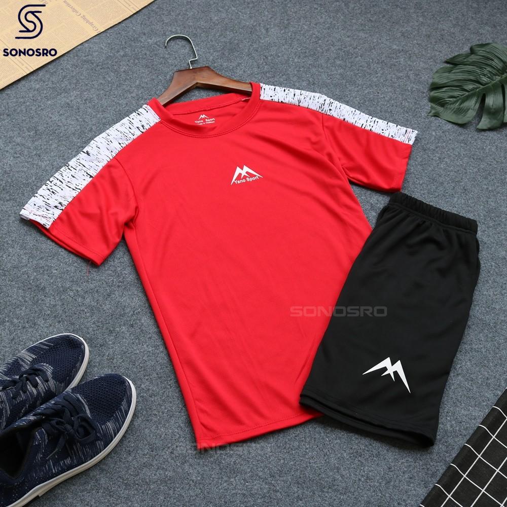 Bộ quần áo thể thao nam SPORT cầu vai hoa văn SNR - BTT - 207 năng động – SONOSRO