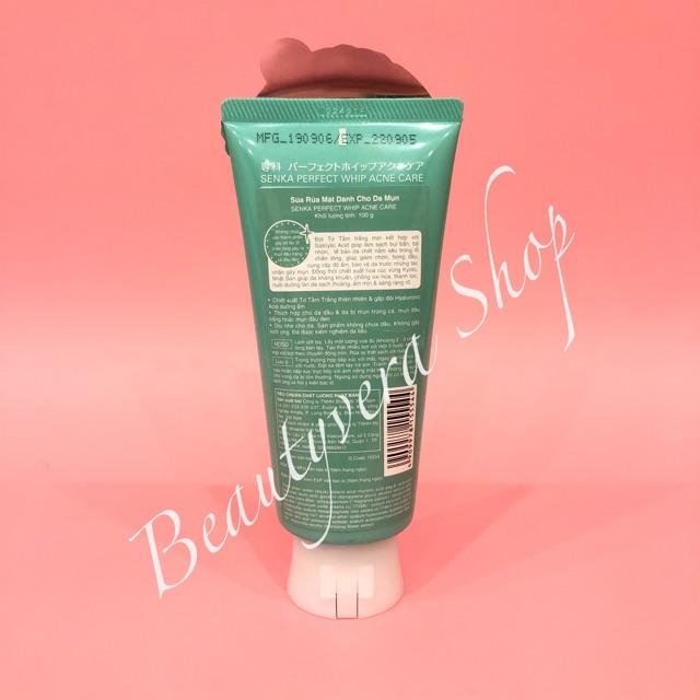 [Mã 77FMCGSALE1 giảm 10% đơn 250K] Sữa rửa mặt dành cho da mụn Senka perfect whip acne care 100g_