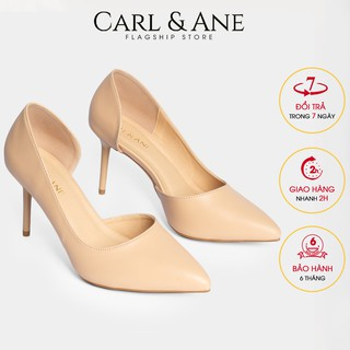 Carl & Ane - Giày cao gót bít mũi gót nhọn cao 9cm màu nude _ CP001