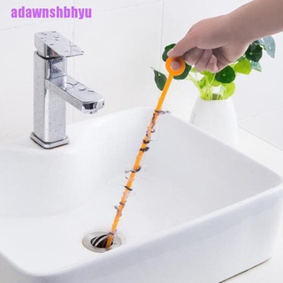 [adawnshbhyu]2PC Easy Storage Flexible Kitchen Sewer Cleaning Brush Toilet Dredge Pipe Snake