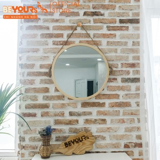 [Mã BAOL10BE9 giảm 10% đơn 200k] Gương Tròn Treo Tường Khung Gỗ BEYOURs Mia Cricle Mirror Nội Thất Kiểu Hàn Lắp Ráp thumbnail