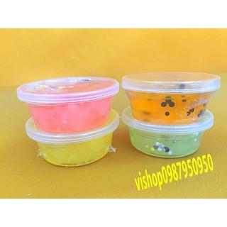 đồ chơi slime -chất nhờn hộp thạch xốp TO mã SSL16 KMS13115