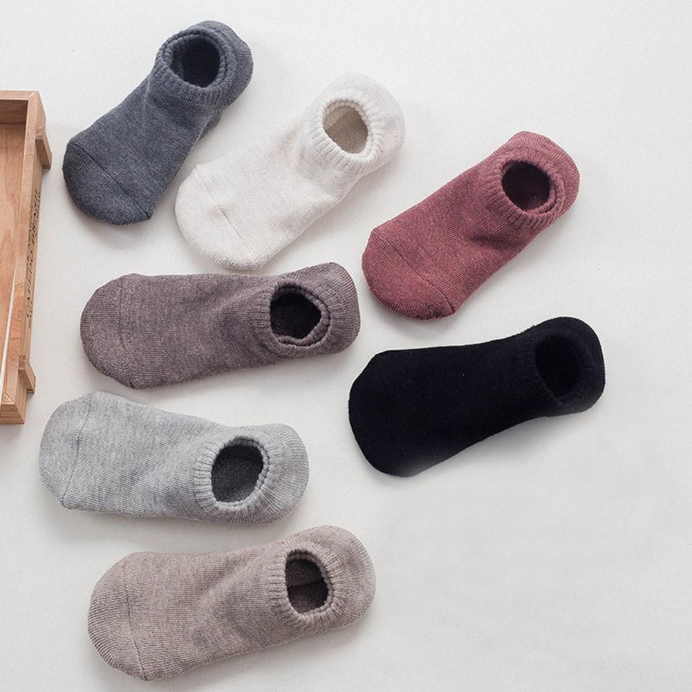 luoyangmudan Solid Color Lady Anti-slip Ankle Low Cut Breathable  Socks