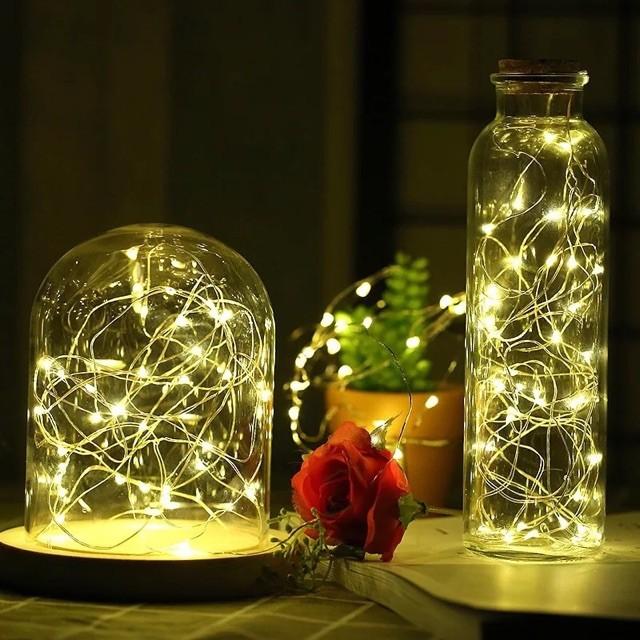 (Chọn Màu) Đèn Led Xài Pin Không Chớp Nháy-Dây Dài 3M 30 Bóng Đèn Led Fairy Light Trang Trí Quấn Cây Đào Quất Sân Vườn