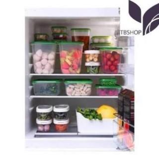 Bộ hộp thực phẩm 17 món IKEA PRUTA nhựa an toàn hàng Chính hãng