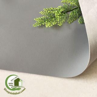 Phông nền chụp hình ảnh bằng vải giả da PVC màu xám có vân, vải da may túi, làm dép, bọc ghế sofa [1m x khổ 1,4m] thumbnail