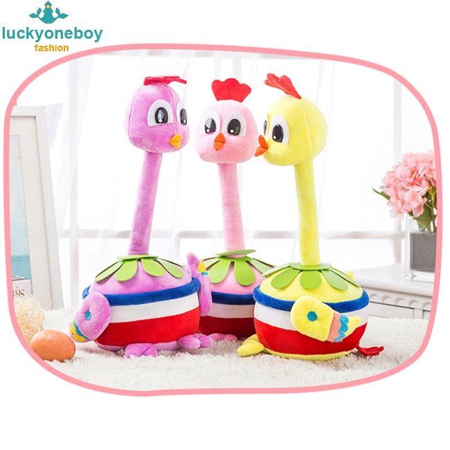 Cute Cartoon Chicken Shape Plush Toy for Home Decoration