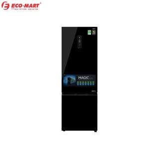 Tủ lạnh Aqua Inverter 373 lít màu gương đen AQR-IG378EB.GB