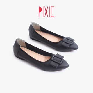 Giày Búp Bê Da Bò Đế Mềm Khóa Vuông Pixie P243