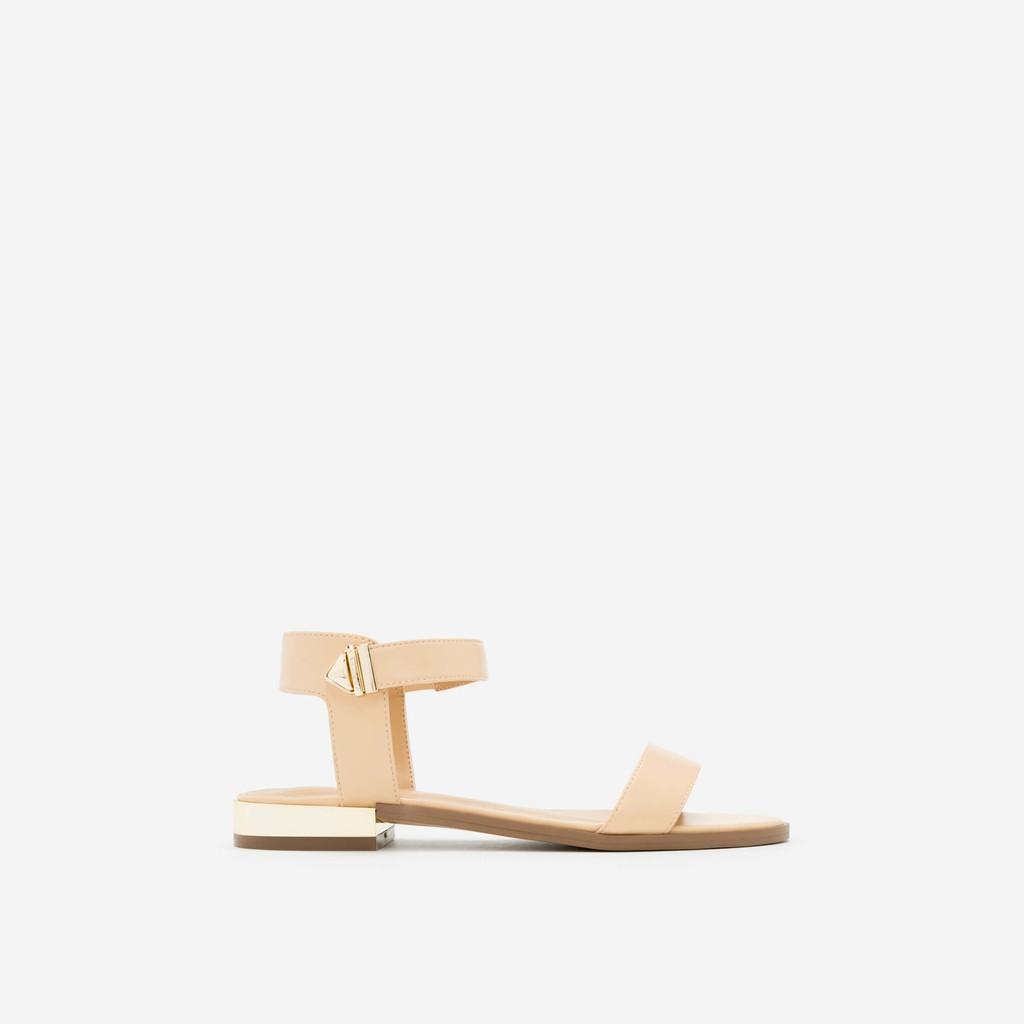 Vascara - Giày Sandal Đế Bệt Quai Ngang SDK 0280 - Màu Be