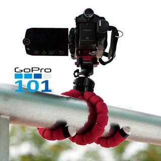 Chân nhện mini bọc xốp 360 độ cho gopro 5 6 7 8, Sjcam, Yi Action, Osmo Action, điện thoại - Gopro101 - inoxnamkim thumbnail