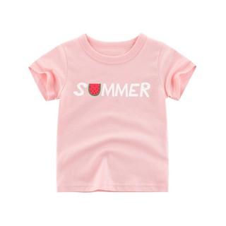 Áo phông 27 kids cộc tay bé gái mềm mát 🍒 áo thun cotton in hình dễ thương cho bé gái - Lá Kids Shop