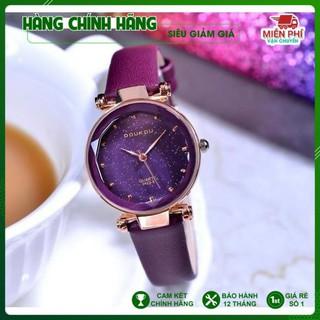 Đồng hồ nữ, đồng hồ hàn quốc Doukou 3422 hàng chính hãng dây da mặt sao trời [NEW ] thumbnail