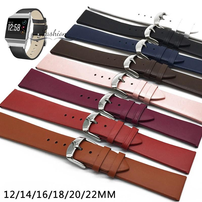 Dây da nhiều màu 12/14/16/18/20/22mm thay thế cho đồng hồ đeo tay nam nữ
