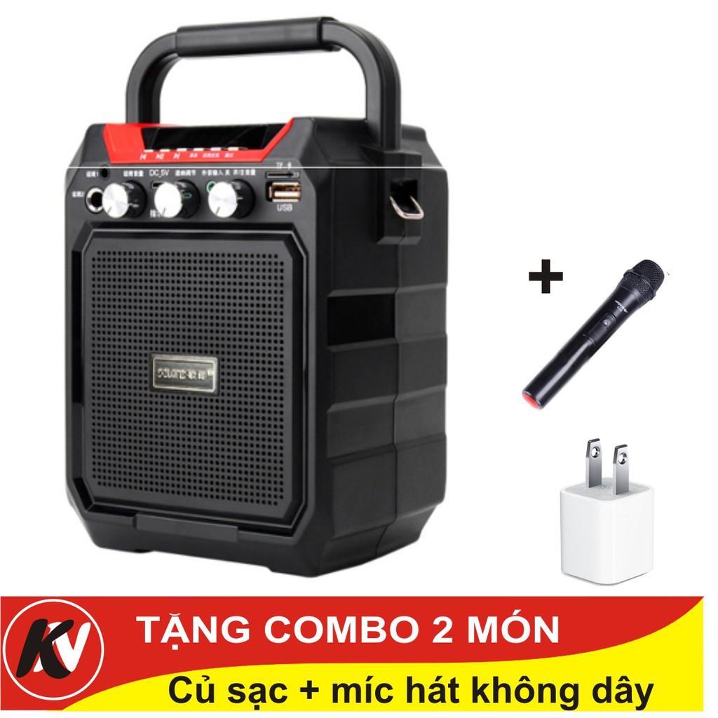 Combo Loa Vali Hát Karaoke Bluetooth S15 Kim Nhung + Míc hát không dây + củ sạc