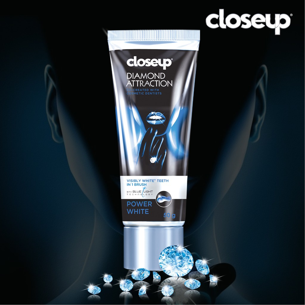Kem đánh răng dạng GEL Closeup White Attraction Diamond