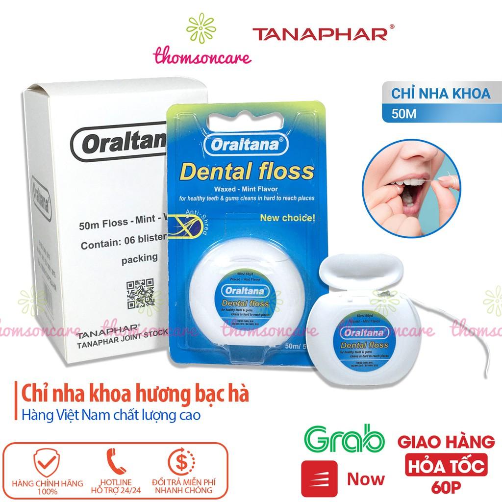 Chỉ nha khoa Oraltana - chỉ kẽ răng hương bạc hà - Hàng Việt Nam chất lượng cao