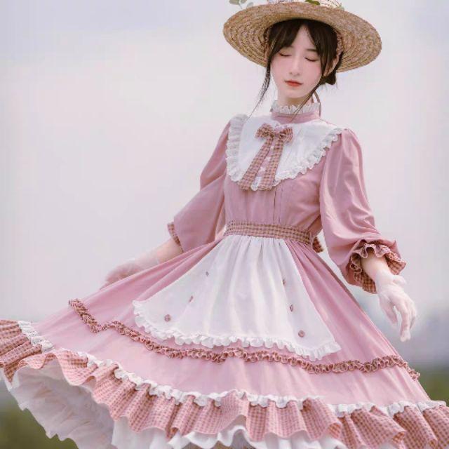 Váy lolita hồng của with puji