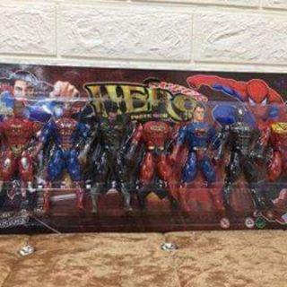 Vỉ đồ chơi 7 siêu nhân anh hùng