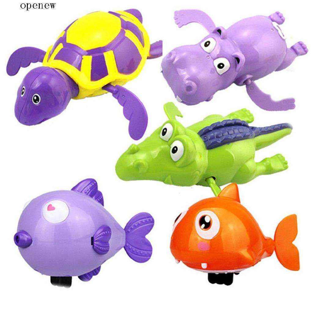 op Baby Child ABS Cute Interesting Safe Swimming Animal Toys Bathtub Bath Water