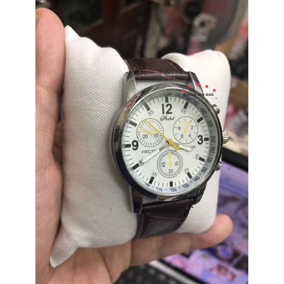 Đồng hồ nam SHSHD dây da mặt tinh xảo lịch lãm SHM03