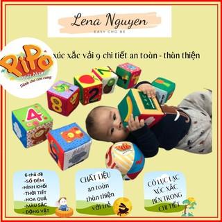 Đồ Chơi Cho Bé 💖𝑭𝑹𝑬𝑬𝑺𝑯𝑰𝑷💖 Xúc xắc vải 9 chi tiết, quà tặng trung thu cho bé từ 6 tháng tuổi đến 6 tuổi