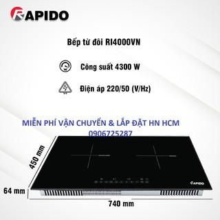 BẾP TỪ ĐÔI RAPIDO: RI4000BN- thương hiệu mới của FERROLI- miễn phí lắp đặt Hà Nội , HCM