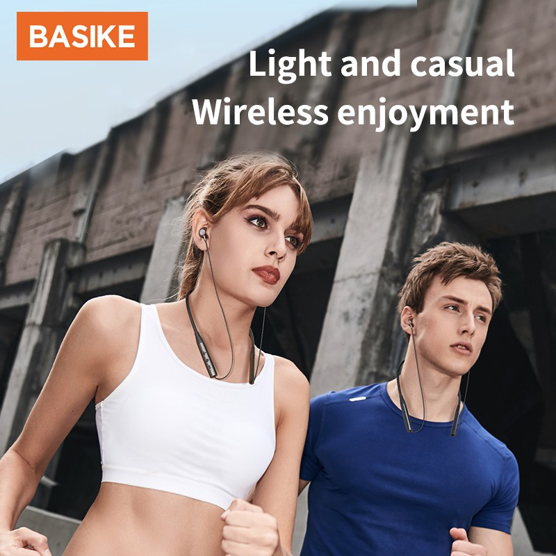 Tai Nghe Thể Thao BASIKE TW69 Kết Nối Bluetooth 5.0 Chống Tiếng Ồn For Android phone iPhone
