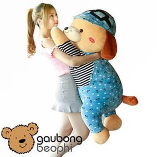 Gấu bông Chó nằm đội nón hàng nhập cao cấp size 80cm