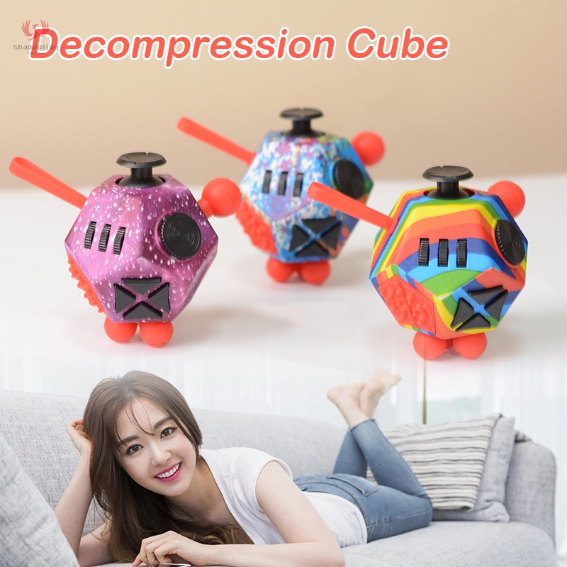 Decompress Rubik's Cube Reduce Stress and Anxiety Decompress Dice Toys for Kids and Adult