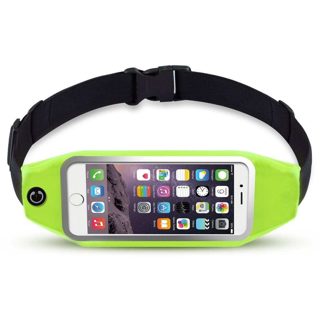 Đai đeo điện thoại tập thể dục ngang hông màu xanh chuối non cho màn hình 4.7 inch