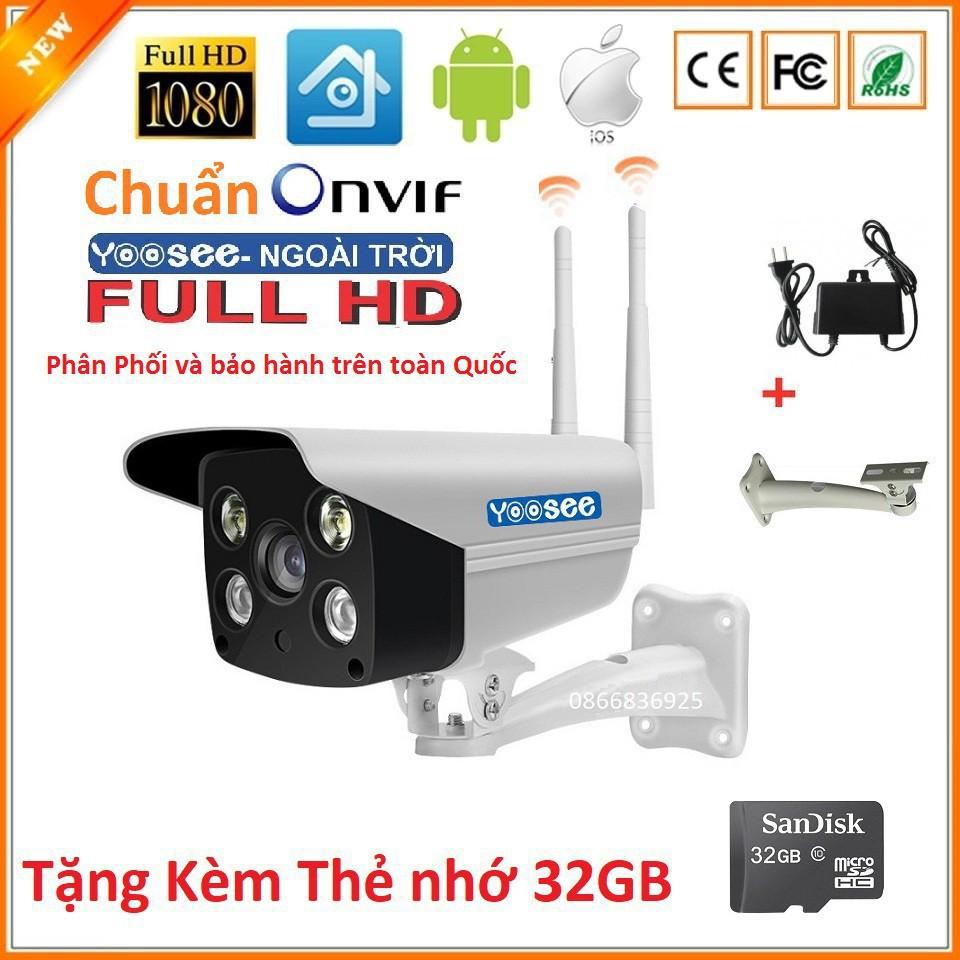 (Tặng thẻ 32GB) Camera wifi YooSee ZQ11M2 2.4 Mp Siêu Nét 1920x1080P Chất Lượng, Hàng Nhập Khẩu - Bảo Hành 1 Năm 1 Đổi 1