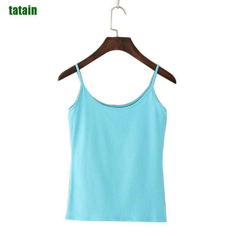 [TNA] Women Camisole Elastic Slim Vest Tank Top Sexy Round Neck Camis Spaghetti Strap PD