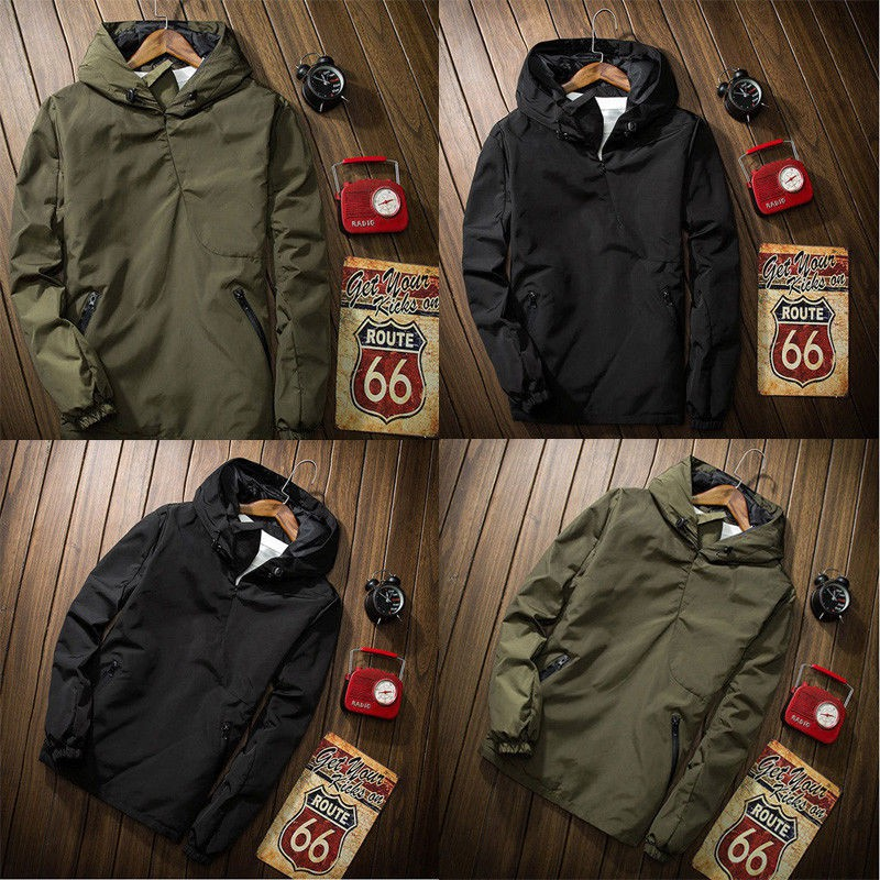 Men's WindCoat With Solid Color Design And Slim Fit Style SFGHOUSE