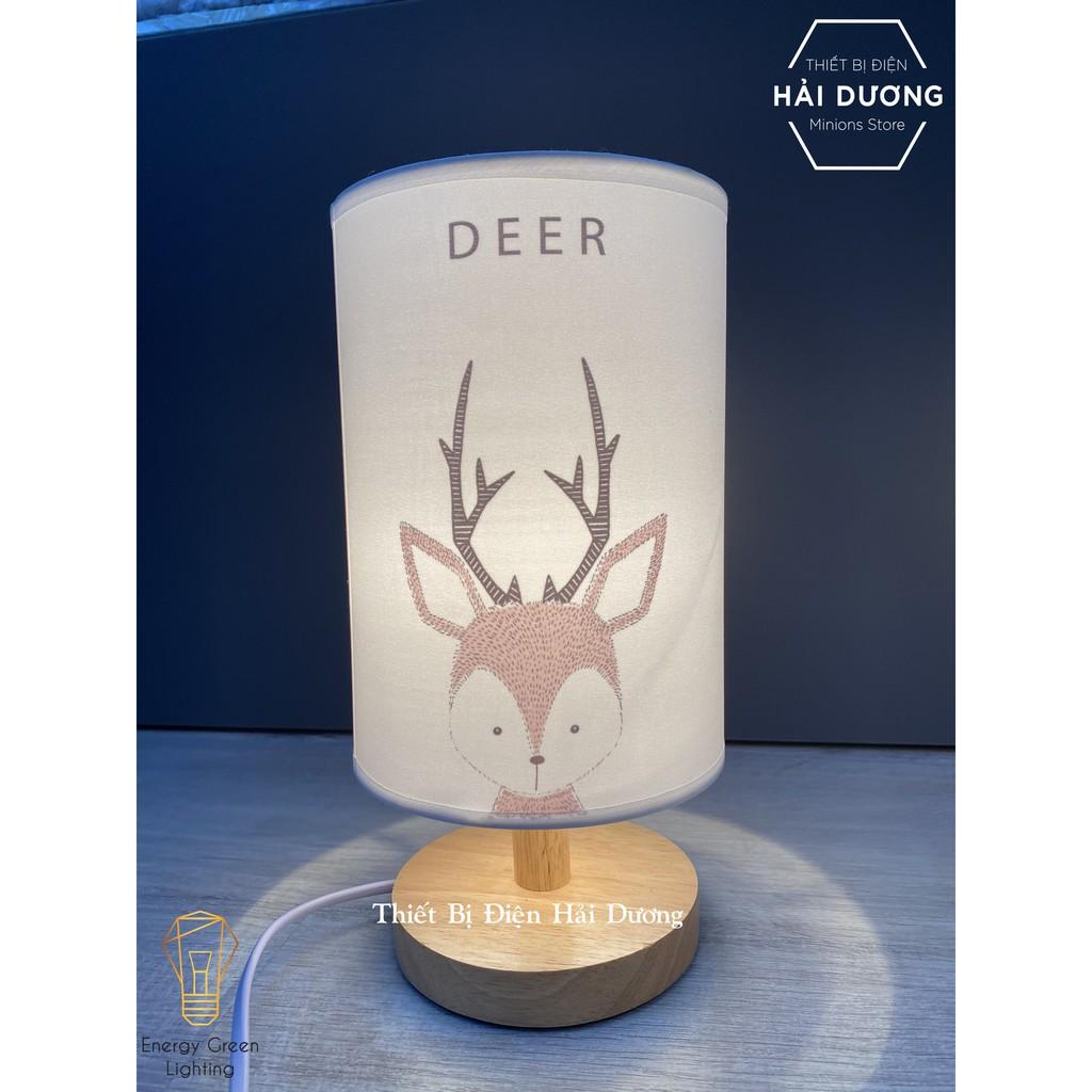 Đèn Bàn Trang Trí Kiểu Dáng Cổ Điển Thân Gỗ DB-616 5 Mẫu Hình Động Vật Dễ Thương- Đã Bao Gồm Bóng -Energy Green Lighting