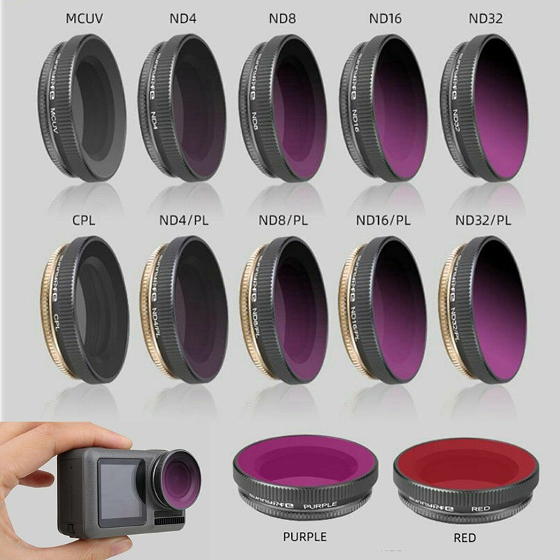 MCUV CPL ND4//ND8/ND16/ND32 ND/PL Camera Lens Filters For DJI OSMO Action Camera