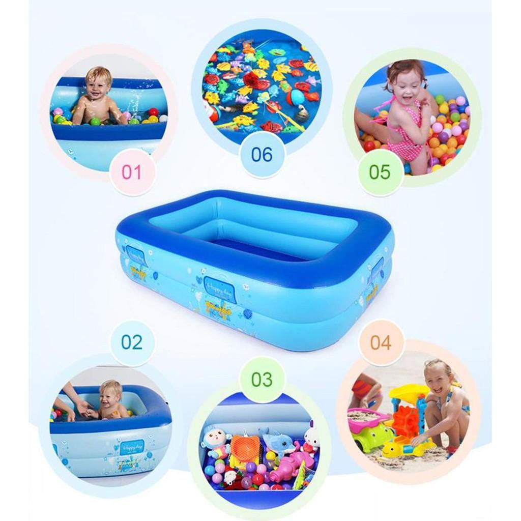 FREESHIP 99K Bể bơi Chữ nhật (chọn cỡ) Tặng Kính bơi kiêm Nhà banh Nhà bóng Phao bơi trong nhà...