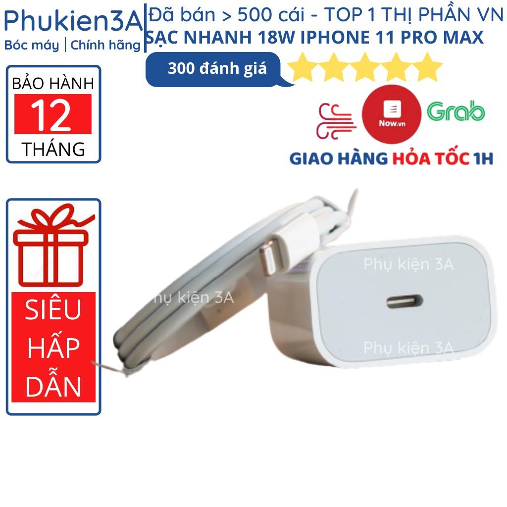 Bộ sạc nhanh iPhone 18W chính hãng 11 Pro Max sạc nhanh cho Ipad iPhone XS Max XS X 8 Plus