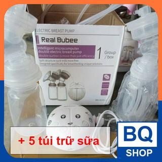 BQShop Máy hút sữa điện đôi Real Bubee tặng 5 túi trữ sữa