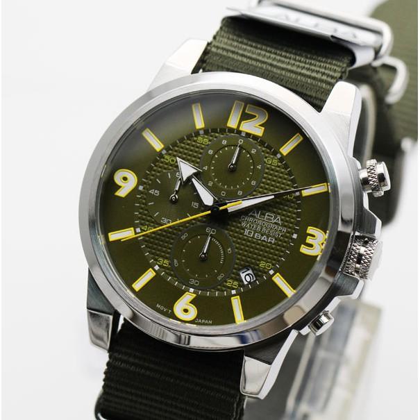 นาฬิกา ALBA Sport Chronograph Gent AM3371X1 ของแท้ ประกันศูนย์ 1 ปี นาฬิกาผู้ชาย นาฬิกาผู้ชาย 2019 นาฬิกาแบรนด์