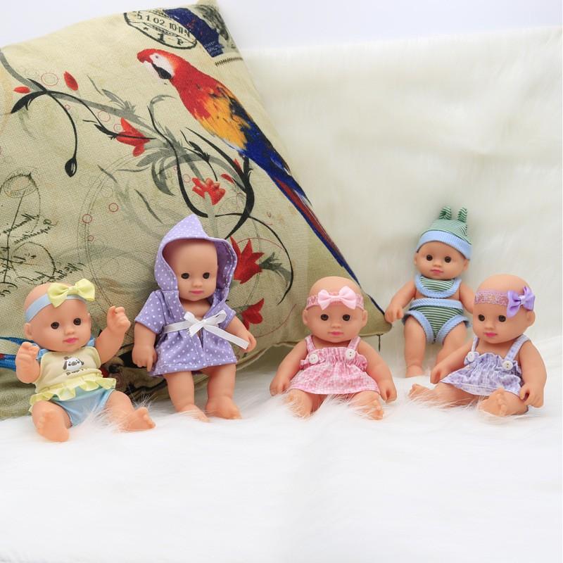 Búp Bê 18 cm Tái SinhMềm Mại mắt 3D– 7 inchReborn Baby Doll