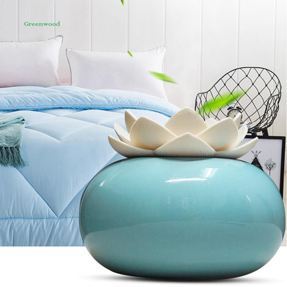 GREEN   200ml Essential Oil Diffuser Lotus Flower USB Home Office Yoga SPA Humidifier