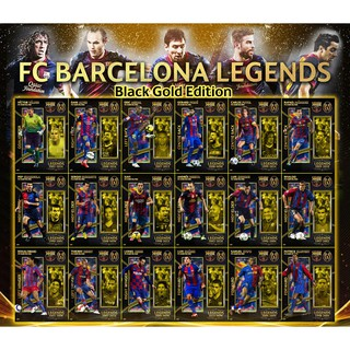 Set thẻ in Huyền thoại Barcelona Match Attax Black Gold Edition