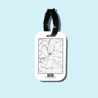 Travel tag cho túi xách balo du lịch in hình Love City - Bern thumbnail