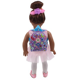 SIY❤ Lovely Doll Backpack School Bag For 18 Inch American Girl 43cm Zapf