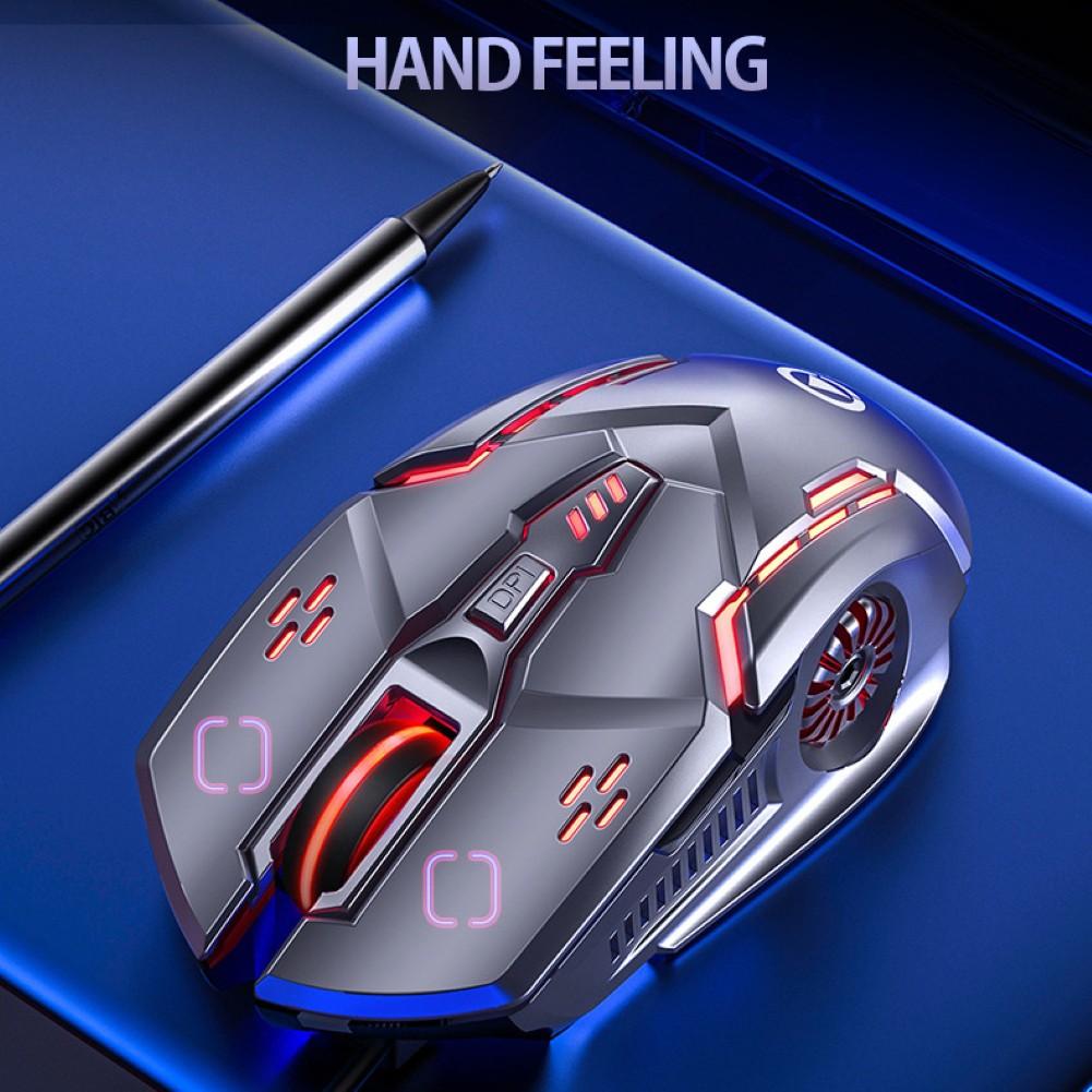 Chuột Gaming Hel + Âm Thanh / Tiếng Ồn 6 Nút Bấm 3200dpi Cho Pc