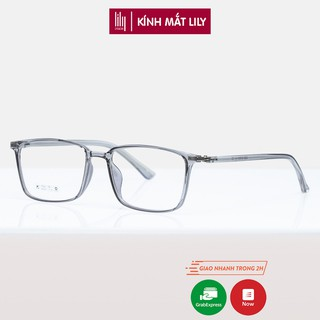 Gọng kính trong suốt nam nữ Lilyeyewear nhựa dẻo, mắt vuông, nhiều màu - Y2222