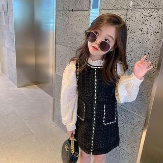 đầm công chúa Xòe Công Chúa Phong Cách Hàn Quốc Cho Bé Gái