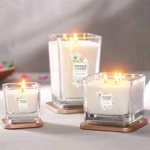 Nến ly Yankee Candle Elevation Sheer Linen