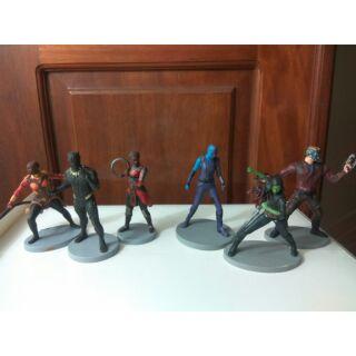 Set mô hình Chiến binh báo đen + Vệ binh giải ngân hà Black Panther Marvel figure